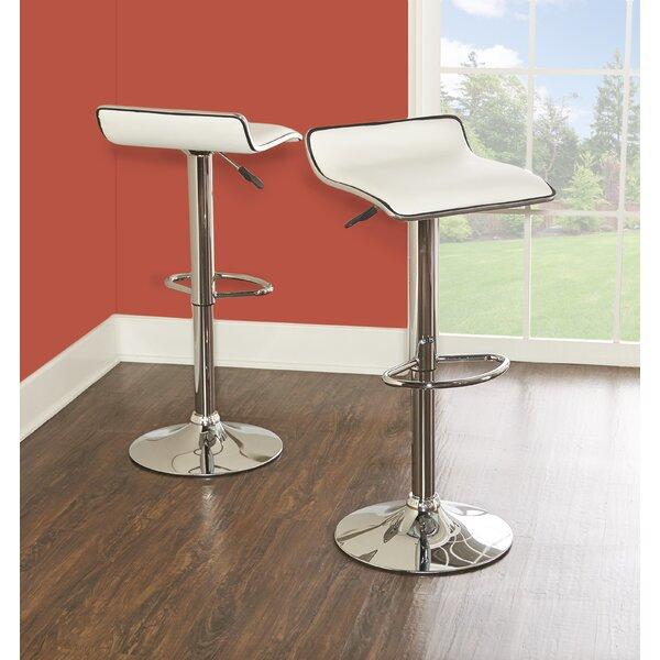 Renea Adjustable Height Swivel Bar Stool (Set Of 2) By Ebern Designs