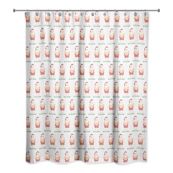 Santa Bathing Suit Shower Curtain by The Holiday Aisle
