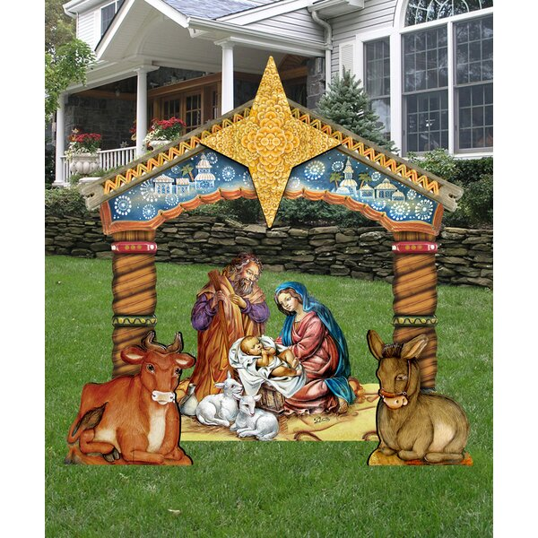 Nativity Lawn Art by The Holiday Aisle