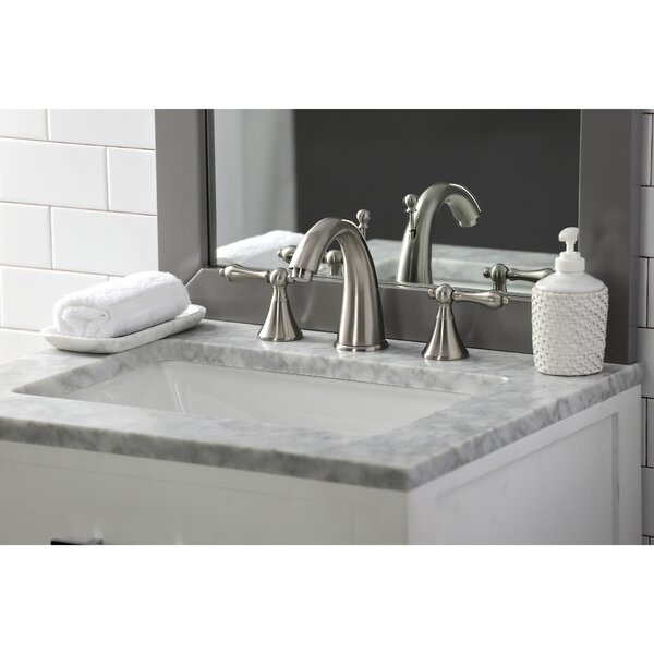 Naples Widespread Bathroom Sink Faucet with Brass Pop-up
