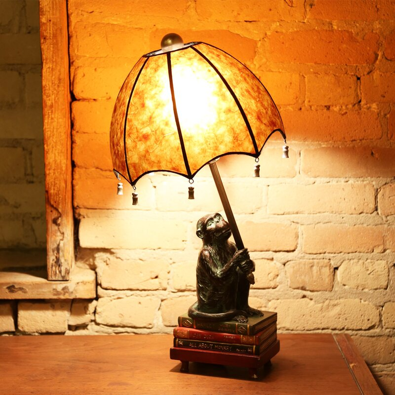 "Crites Intellectual Monkey 22"" Table Lamp"