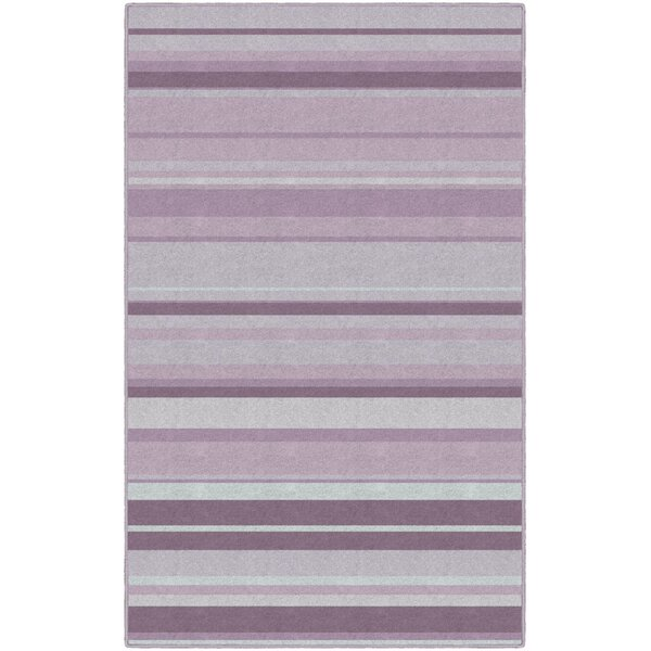Laisha Traditional Pastel Striped Purple Area Rug by Winston Porter