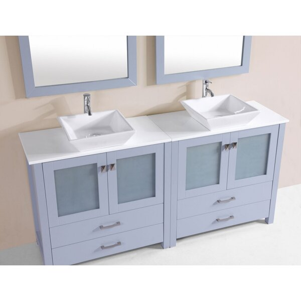 Lapp Modern 71 Double Bathroom Vanity Set by Latitude Run