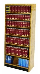 Single Face Shelf With Back Standard Bookcase