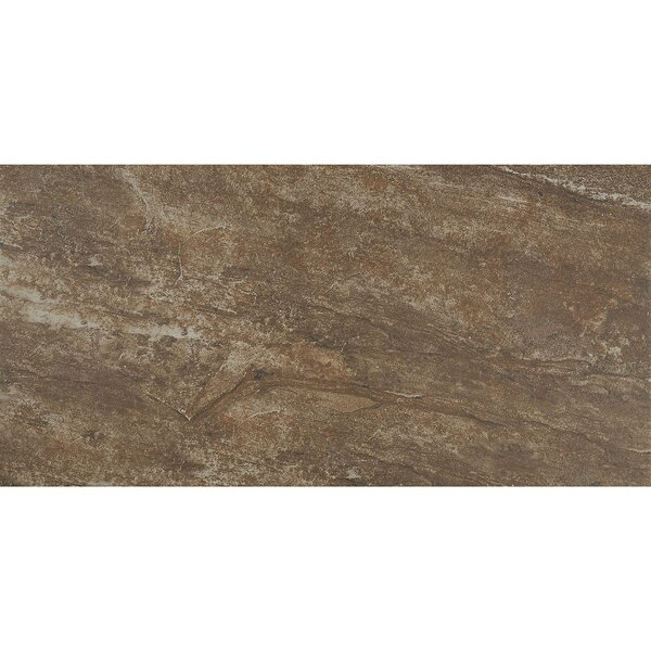 Slate Attaché 12 x 24 Porcelain Field Tile in Multi Brown by Daltile