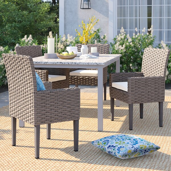 Rockport Patio Dining Chair with Cushion (Set of 4) by Sol 72 Outdoor
