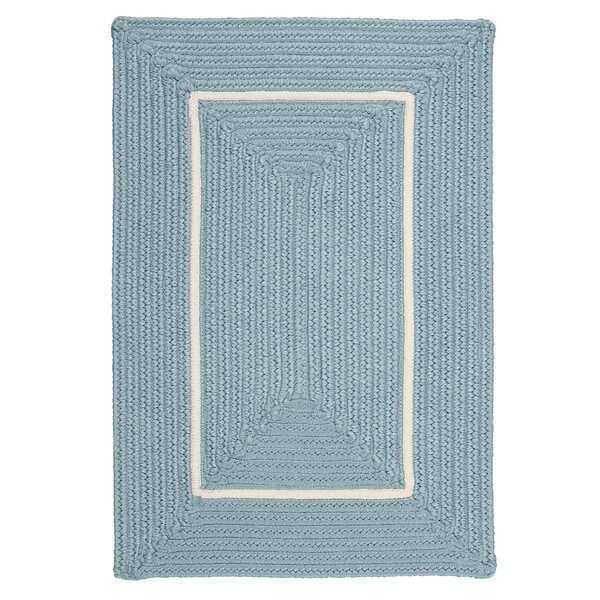 Doodle Edge Light Blue Border in Border Indoor/Outdoor Area Rug by Colonial Mills