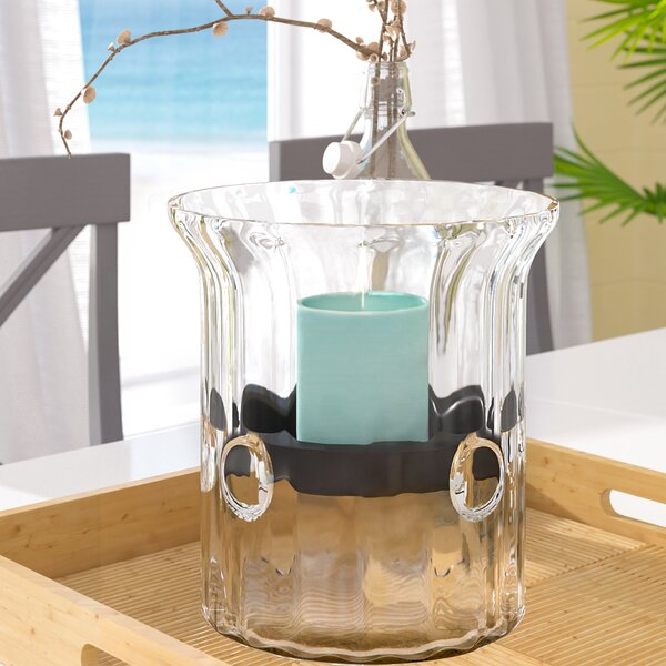 Babson Park Glass Hurricane by Beachcrest Home