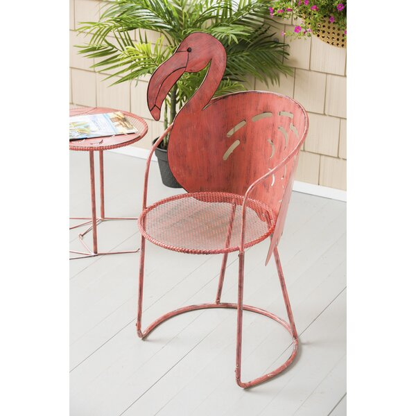 Flamingo Iron Bistro Table with Chair by Bay Isle Home