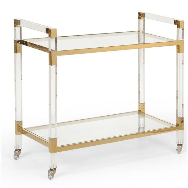 Acrylic Bar Cart by Wildwood