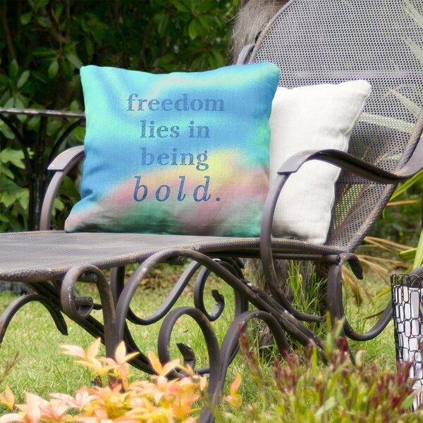 Be Bold Inspirational Indoor/Outdoor Throw Pillow