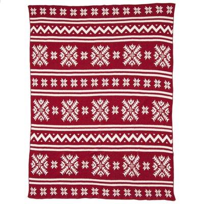 East Urban Home Christmas Knitting Deer Fleece Polyester Throw ...