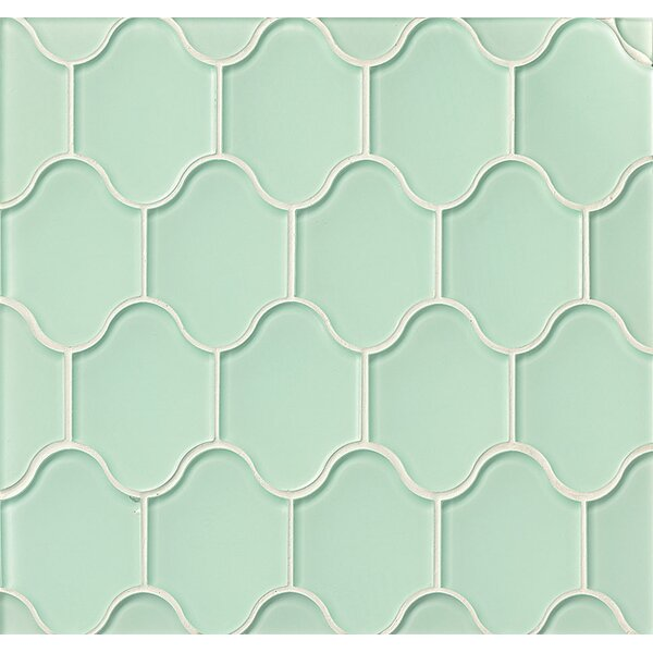 La Palma Glass Mosaic Tile in Glossy Driftwood by Grayson Martin