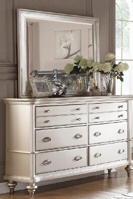 Tiya 6 Drawer Double Dresser with Mirror by House of Hampton