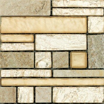 Vista 12 x 12 Glass Stone Blend Pattern Mosaic Tile in Prospect by Emser Tile