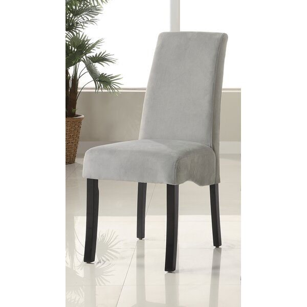 Fabric Upholstered Parsons Chair In Gray (Set Of 2) By Red Barrel Studio