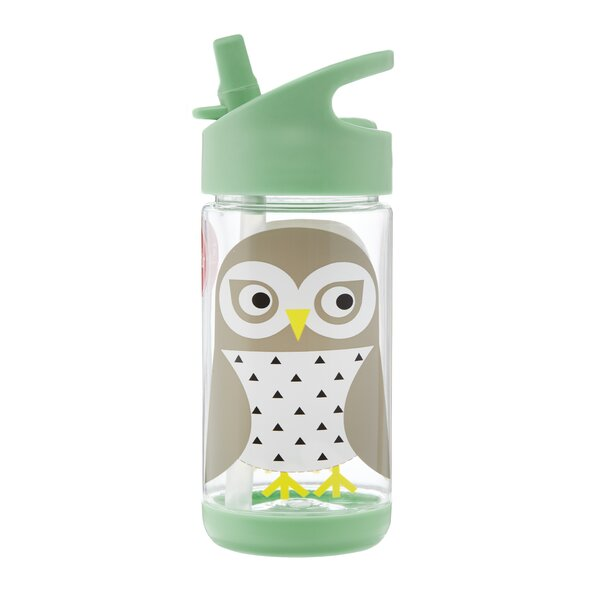 Owl 12 oz. Plastic Water Bottle by 3 Sprouts