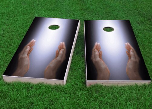 Worshiping the Divine Cornhole Game (Set of 2) by Custom Cornhole Boards