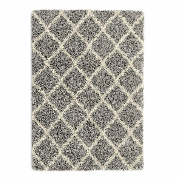Radford Gray Shaggy Area Rug by Wrought Studio