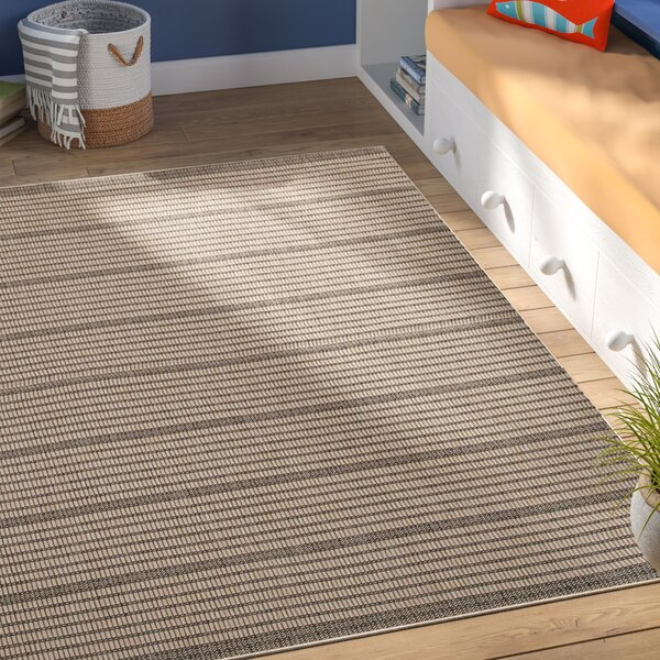 Guilderland Black/Beige Indoor/Outdoor Area Rug by Beachcrest Home