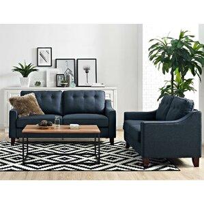 grey leather living room set. Heron Configurable Living Room Set Blue Sets You ll Love  Wayfair