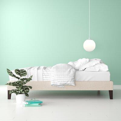 Camdyn Upholstered Platform Bed Hashtag Home Size: Full, Color: Beige
