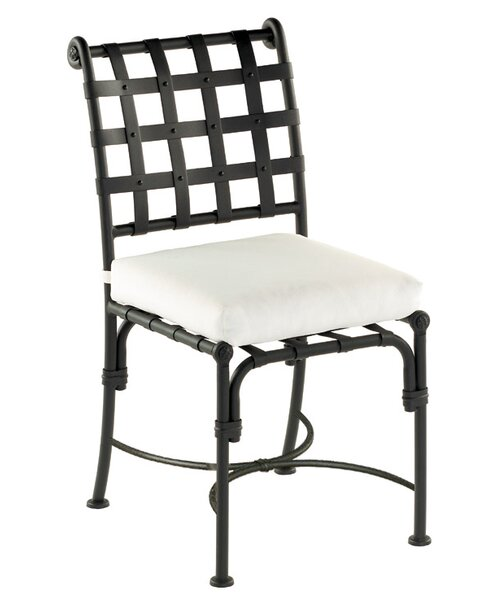 Aikens Patio Dining Chair with Cushion (Set of 2) by One Allium Way
