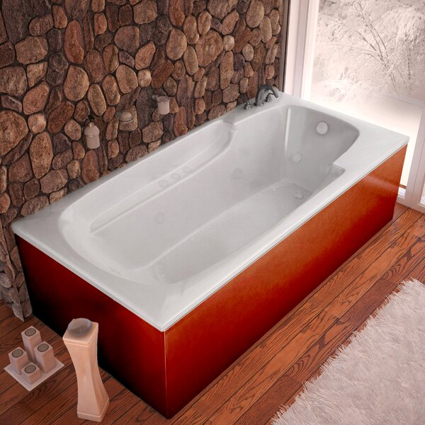 Anguilla Dream Suite 71 x 41.38 Rectangular Air & Whirlpool Jetted Bathtub by Spa Escapes