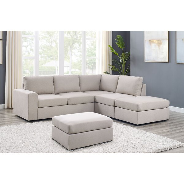 Expert Reviews Reversible Modular Sectional with Ottoman by Ebern Designs by Ebern Designs