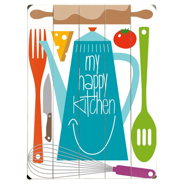 My Happy Kitchen Graphic Art Print Multi-Piece Image on Wood by Artehouse LLC