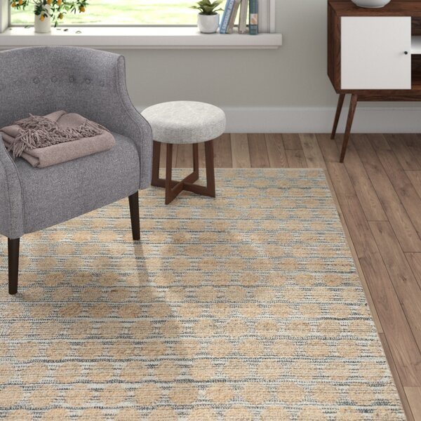 Trond Hand Woven Black/Natural Area Rug by Langley Street