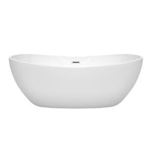 Top Reviews Rebecca 65 x 32 Freestanding Soaking Bathtub By Wyndham Collection
