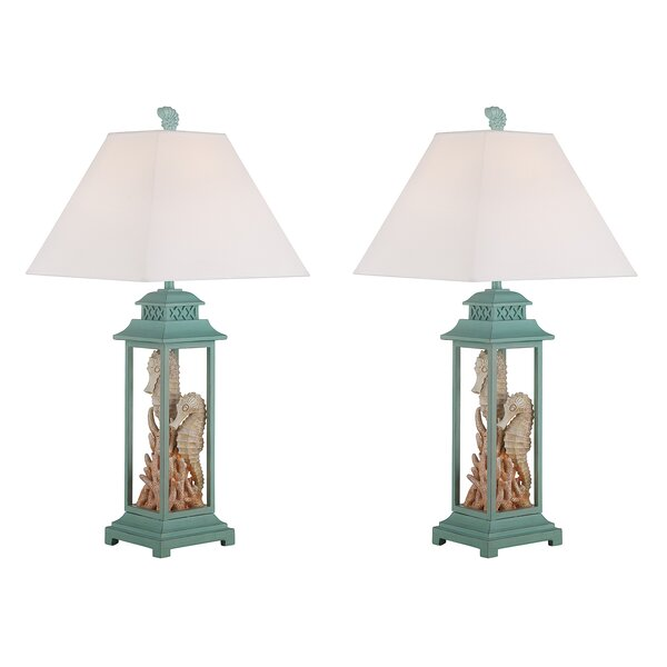 Canales Seahorse 31 Table Lamp (Set of 2) by Rosecliff Heights