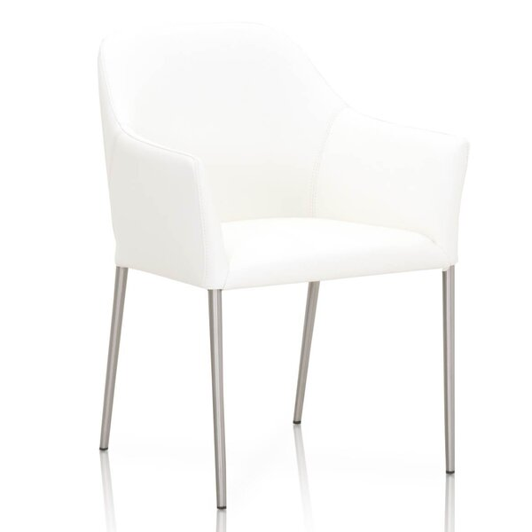 Winding Curved Upholstered Dining Chair by Orren Ellis