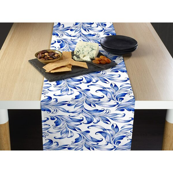 Hummer Traditional Leaves Table Runner by Charlton Home