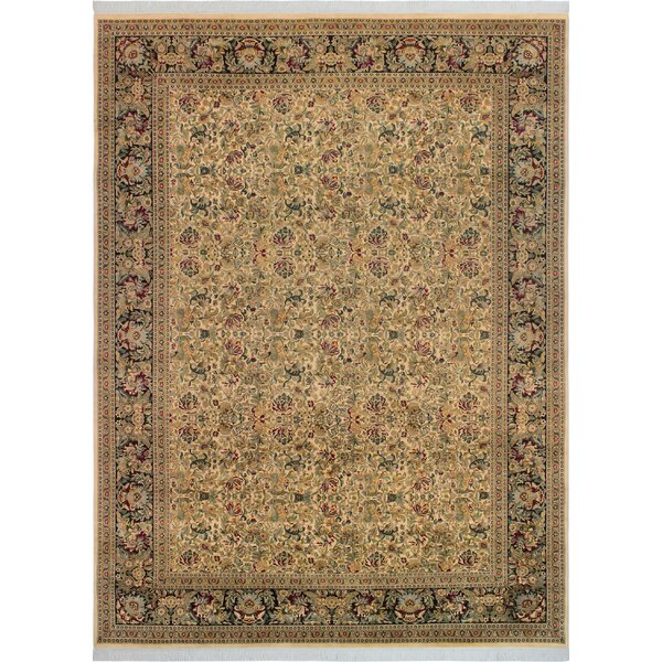 One-of-a-Kind Delron Hand-Knotted Wool Ivory/Black Area Rug by Astoria Grand
