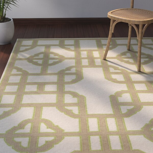 Elsmere Beige/Taupe Geometric Hand Woven Area Rug by Bay Isle Home