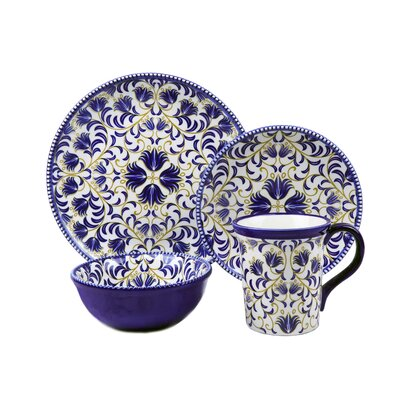 Bimini Beaded 16 Piece Set Dinnerware Set Service for 4  sc 1 st  Wayfair : mikasa linden dinnerware - pezcame.com
