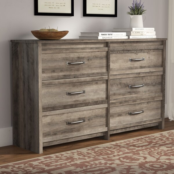 Millom 6 Drawer Double Dresser by Three Posts