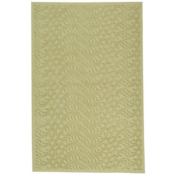 Martha Stewart Surf Dune Hand-Knotted Wool/Silk Green Area Rug