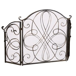 Oxford 3 Panel Iron Fireplace Screen by Home Loft Concepts
