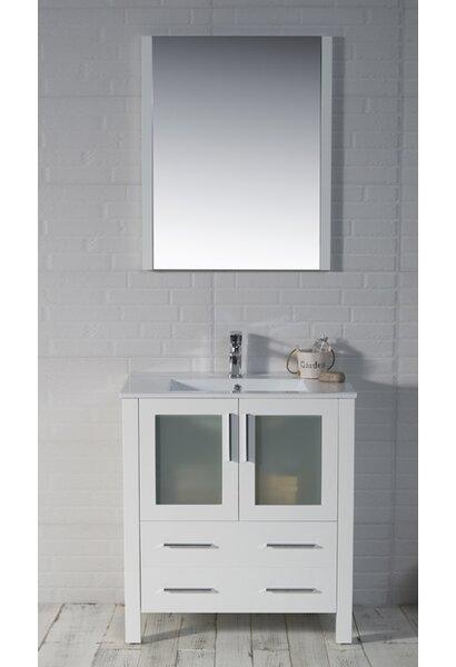 Mance 29 Single Bathroom Vanity Set with Mirror by Orren Ellis