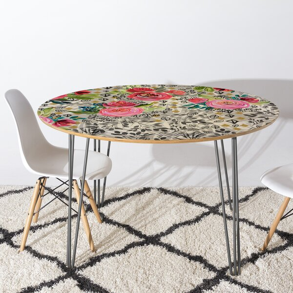 Marta Barragan Camarasa Flowered Nature Dining Table by East Urban Home