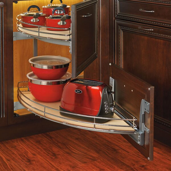 Curve Two Tier Left-Handed Blind Corner Organizer by Rev-A-Shelf