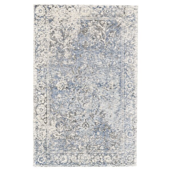 Linke Hand-Woven Gray/Blue Area Rug by Rosdorf Park
