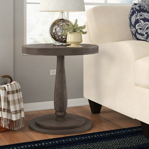 Keim Circular End Table By Three Posts