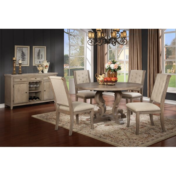 Eliza 5 Piece Solid Wood Dining Set by Ophelia & Co.
