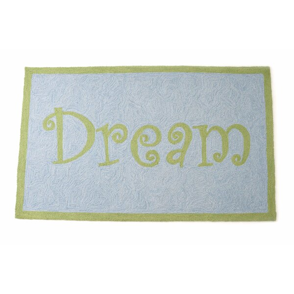 Dream Hand Hooked Wool Blue/Green Area Rug by The Little Acorn
