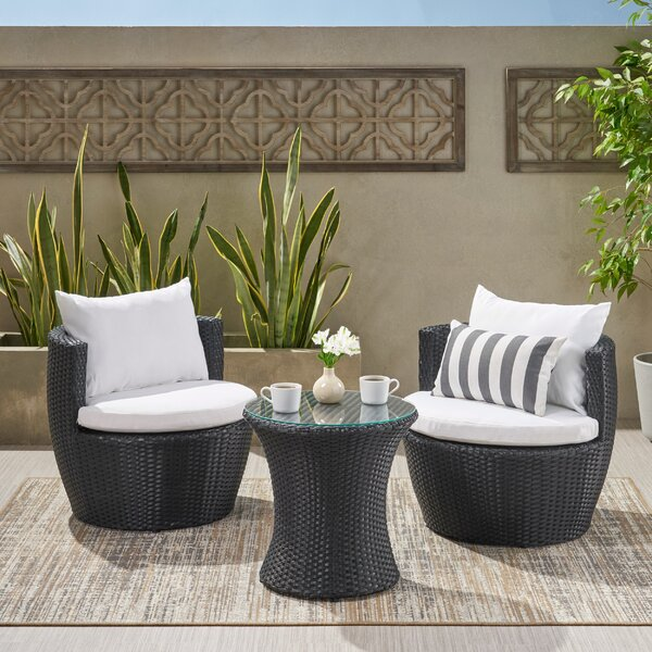 Collingswood 3 Piece Seating Group With Cushions By Mercury Row®