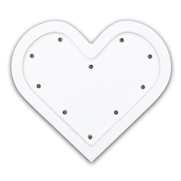 Heart Marquee Wall Light by The Peanut Shell